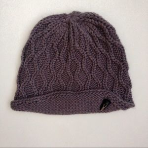 The North Face // Purple Cable Knit Beanie